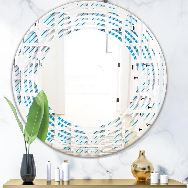 Wave 3D Pattern II Modern Frameless Wall Mirror