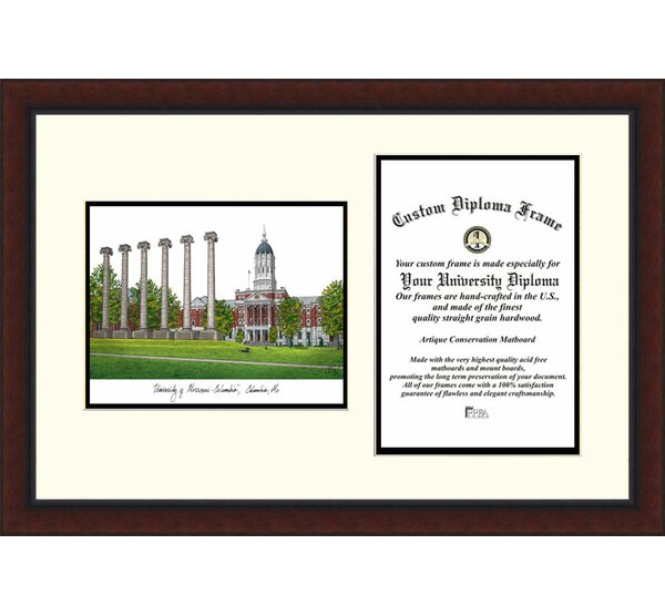 NCAA University of Missouri Legacy Scholar Diploma Picture Frame by Campus Images