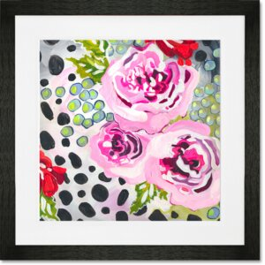 'Spots and Dots Florals' Print by GreenBox Art