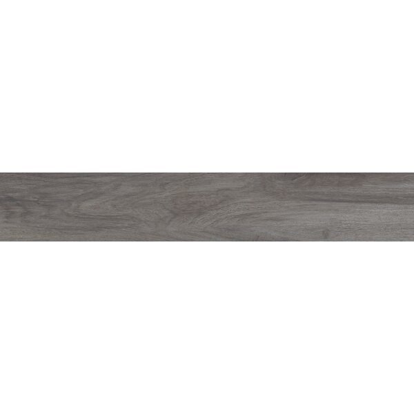 Centennial Arbor 6 x 36 Porcelain Wood Look Tile in Graphite by Parvatile