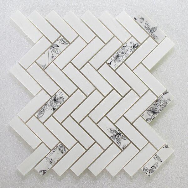 Soft Touch Herringbone 1 x 3 Marble Mosaic Tile