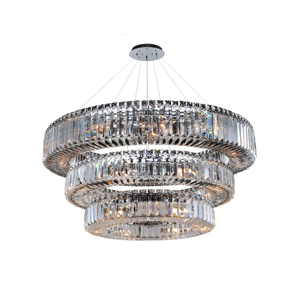 Richwood 39-Light Unique / Statement Tiered Chandelier by Everly Quinn Everly Quinn
