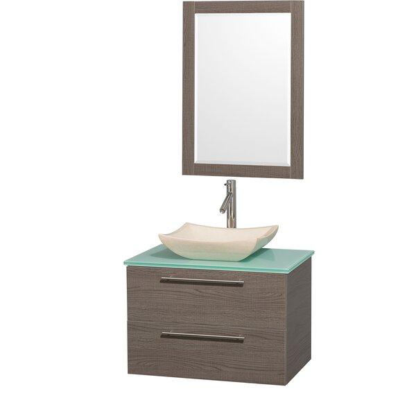 Amare 30 Wall-Mounted Single Bathroom Vanity Set with Mirror