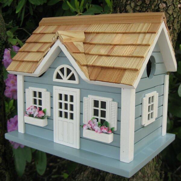 Fledgling Series Nantucket Cottage 10 in x 9 in x 9 in Birdhouse by Home Bazaar