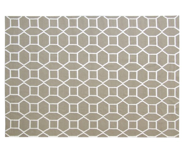 Flat woven Wool Dark sage/White Area Rug by Exquisite Rugs