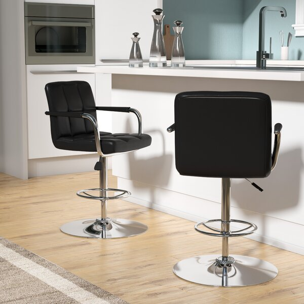 Faith Adjustable Height Swivel Bar Stool by Zipcod