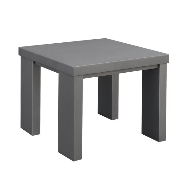 Sherrell Contemporary Aluminium Side Table by Orren Ellis
