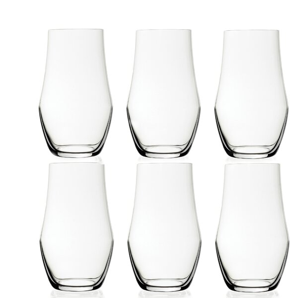 Ego 16 oz. Crystal Highball Glass (Set of 6) by Lorren Home Trends