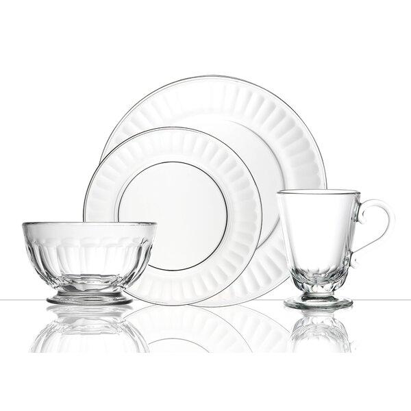 Perigord Glass 24 Piece Dinnerware Set, Service for 6 by La Rochere