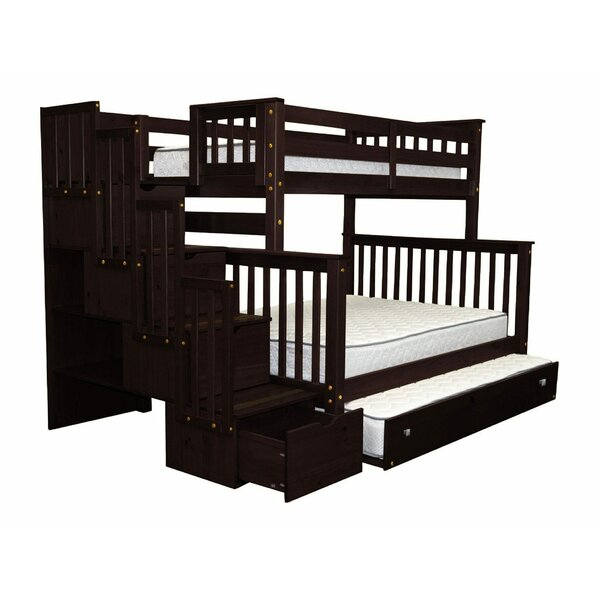Ten Bunk Bed with Storage and Trundle by Harriet Bee
