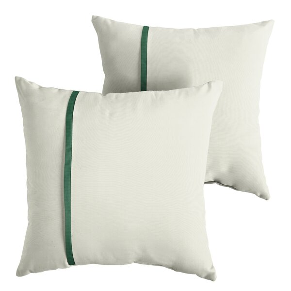 Folkes Indoor/Outdoor Sunbrella Throw Pillow (Set of 2) by Charlton Home