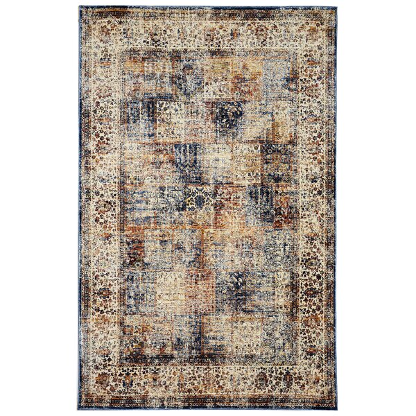 Rosana Ivory/Brown Area Rug by Bloomsbury Market