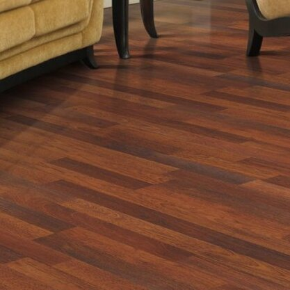 Genova 6 x 54 x 8mm Merbau Laminate Flooring in Natural Merbau Plank by Mohawk Flooring