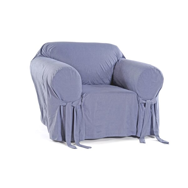 Box Cushion Armchair Polyester Slipcover by Classic Slipcovers