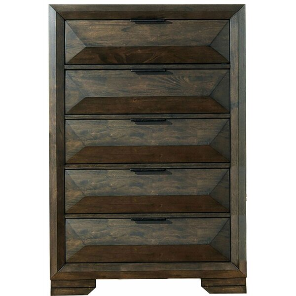 Merri Wooden 5 Drawer Chest by Millwood Pines