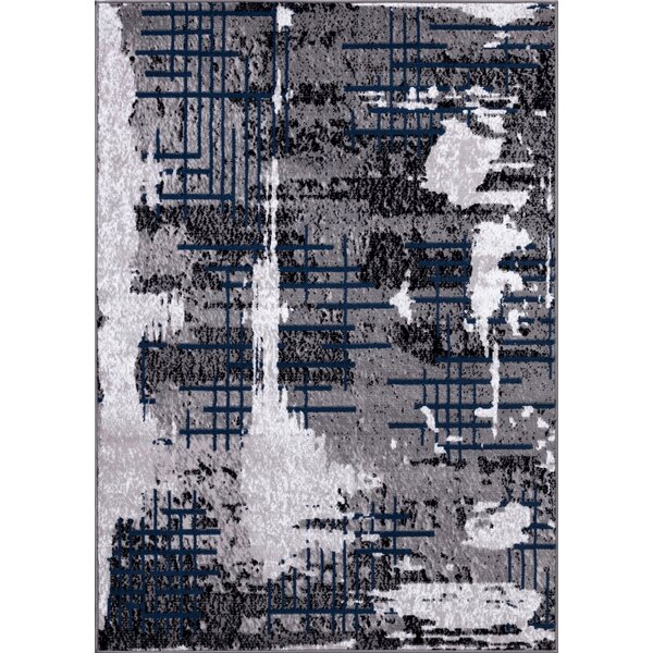Nadel Gray Area Rug by Williston Forge