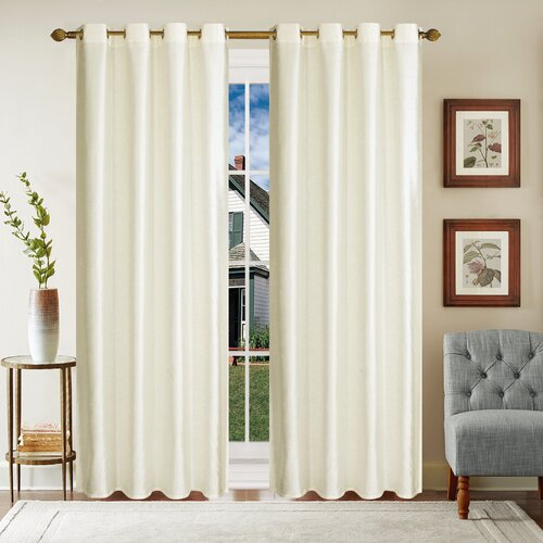 Willmar Eyelet Blackout Thermal Single Curtain Marlow Home