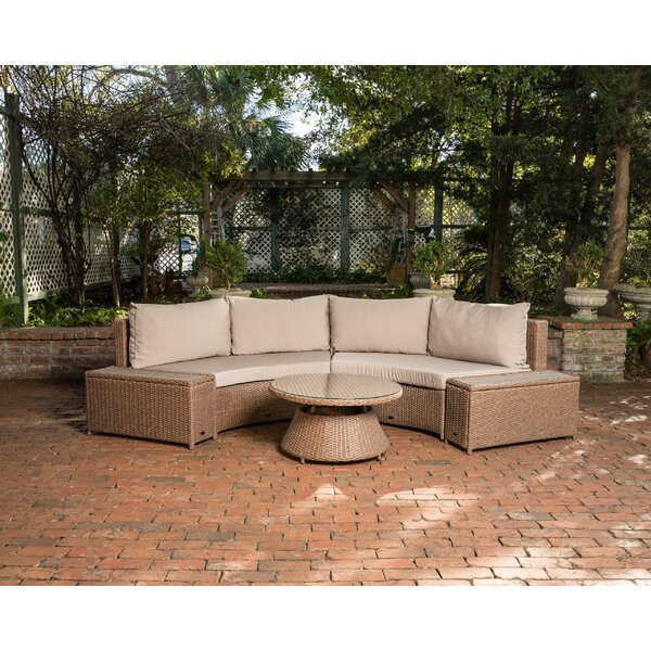 Webster 2 Piece Sectional Seating Group with Cushions by PatioSense