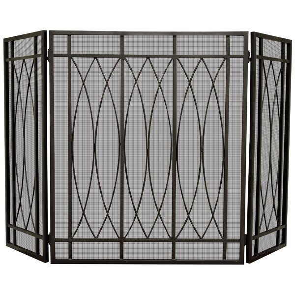 3 Panel Steel Fireplace Screen By Uniflame
