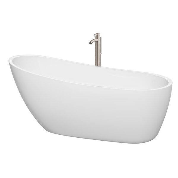 Florence 68.75 x 30.5 Soaking Bathtub by Wyndham Collection