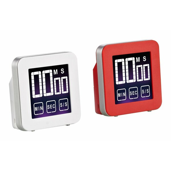 Touch Screen Digital Kitchen Timer (Set of 2) by C