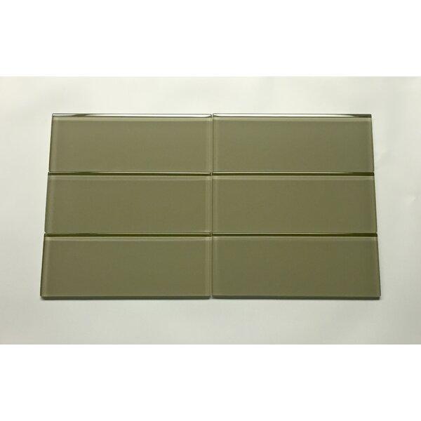 3 x 8 Glass Field Tile in Dark Green by Seven Seas