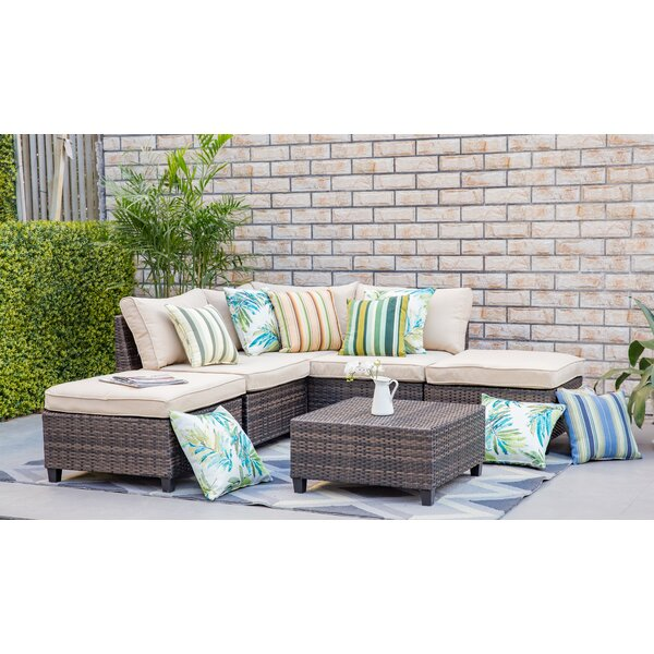 Adama 6 Piece Sectional Set With Cushions By Highland Dunes by Highland Dunes Discount