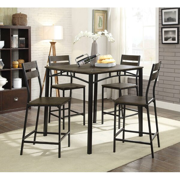 Brockman Wooden 5 Piece Pub Table Set by Union Rustic
