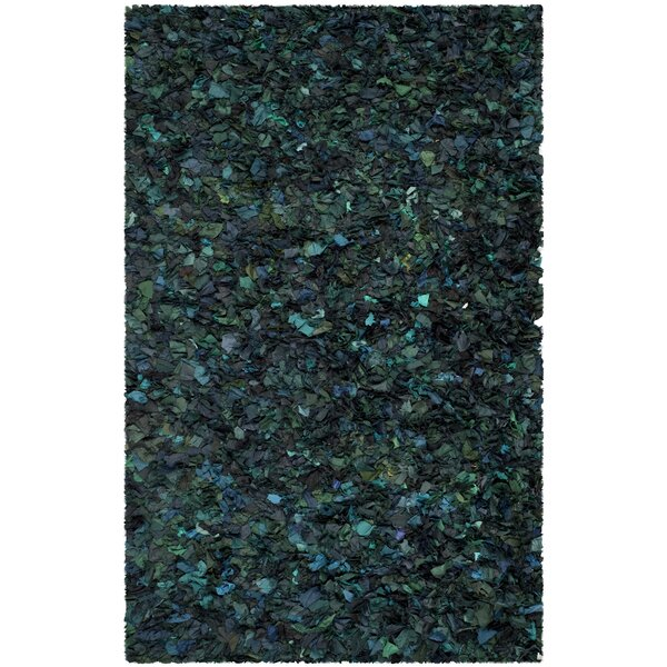 Messiah Green Shag Area Rug by Bungalow Rose
