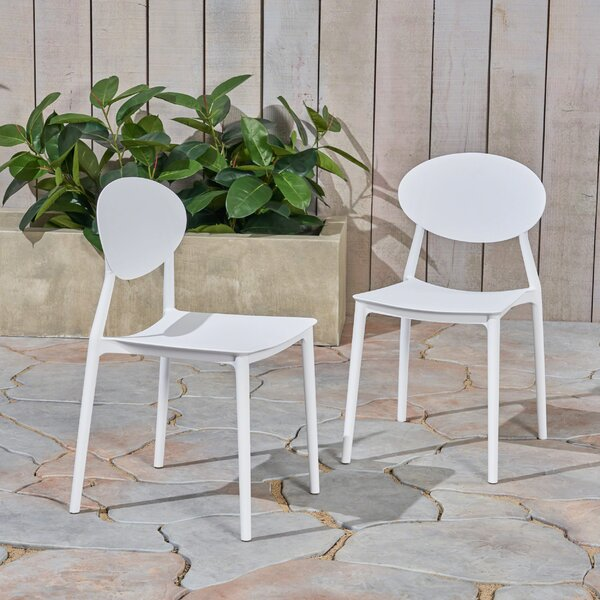 Belford Stacking Patio Dining Chair (Set of 2) by Ebern Designs