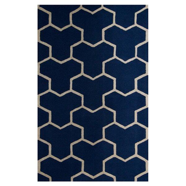Harbin Navy Blue/Ivory Area Rug by Brayden Studio