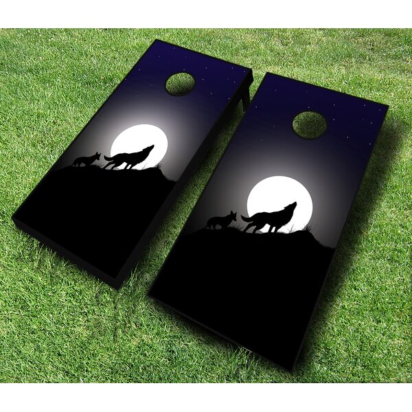 10 Piece Wolf Cornhole Set by AJJ Cornhole