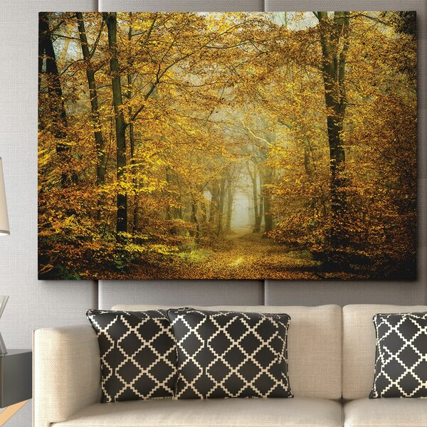 Soon Fall Leaves by Lars Van de Goor Photographic Print on Wrapped Canvas by Wexford Home