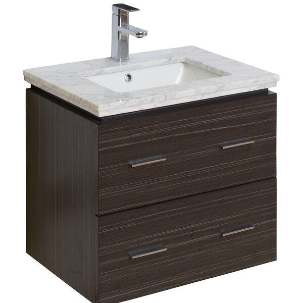 24 Single Modern Wall Mount Bathroom Vanity Set