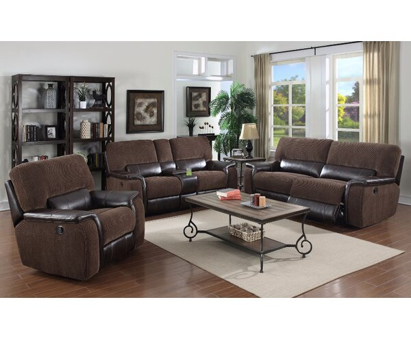 Dail Reclining Leather Configurable Living Room Set By Red Barrel Studio