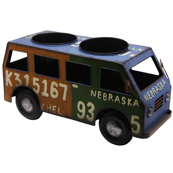 Metal Bus Planter by Alpine