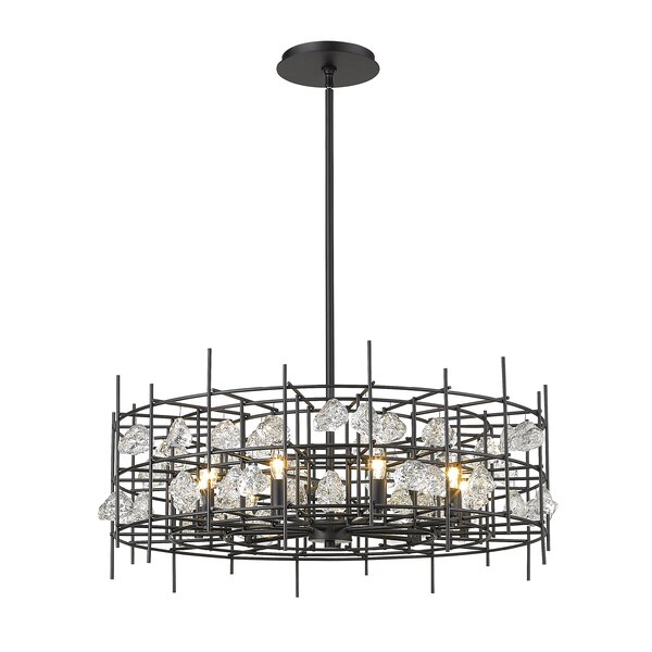 Machuca 9 - Light Candle Style Geometric Chandelier By Everly Quinn