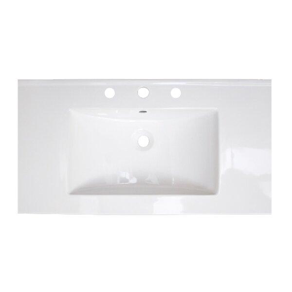 Flair Ceramic 37 Single Bathroom Vanity Top