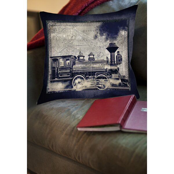 Railway Beantown Printed Throw Pillow by Manual Woodworkers & Weavers