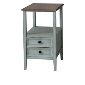 Priolo 2 Drawer End Table by August Grove