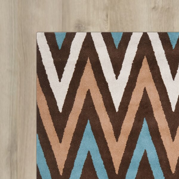 Rose Hand-Tufted Brown Area Rug by Wrought Studio