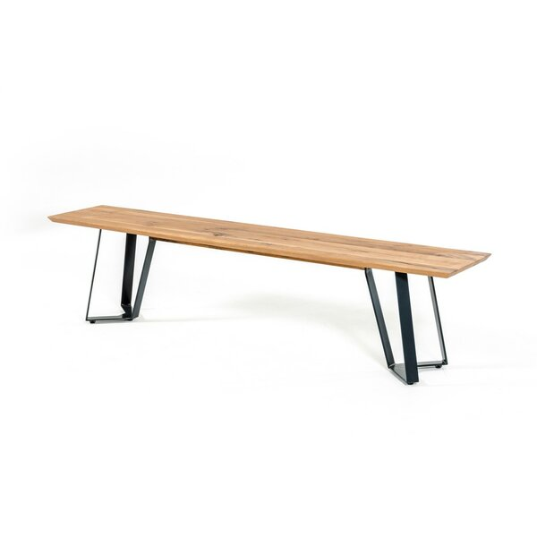 Yip Drift Wooden Bench by 17 Stories