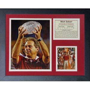 Nick Saban Champs Framed Memorabilia by Legends Never Die