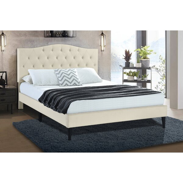 Delahunt Tufted Arch Upholstered Platform Bed Charlton Home W002018457