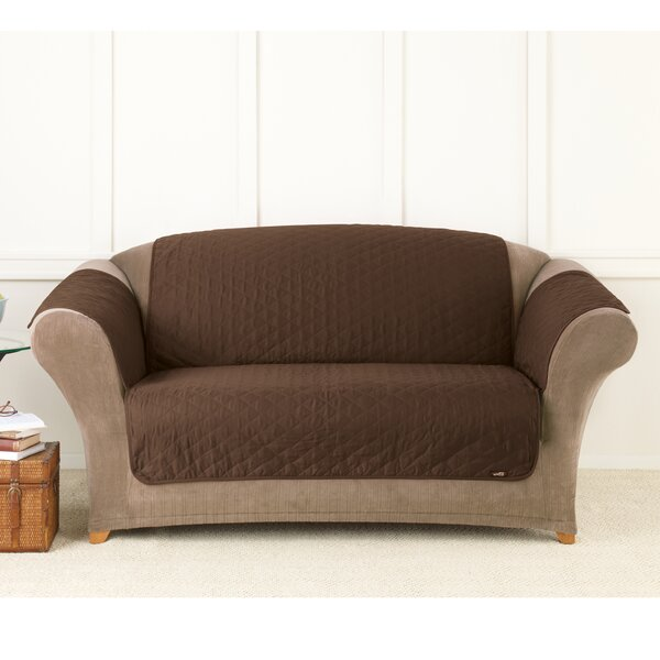 Friend Throw Box Cushion Loveseat Slipcover by Sure Fit