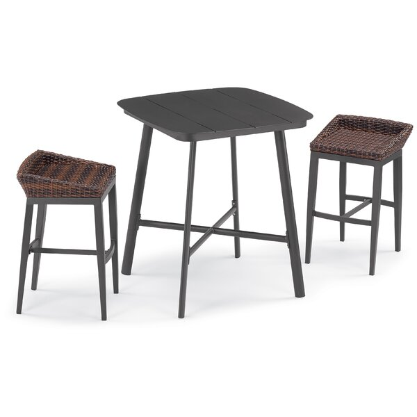 Carrie Salino 3 Piece Bar Height Dining Set by Bayou Breeze