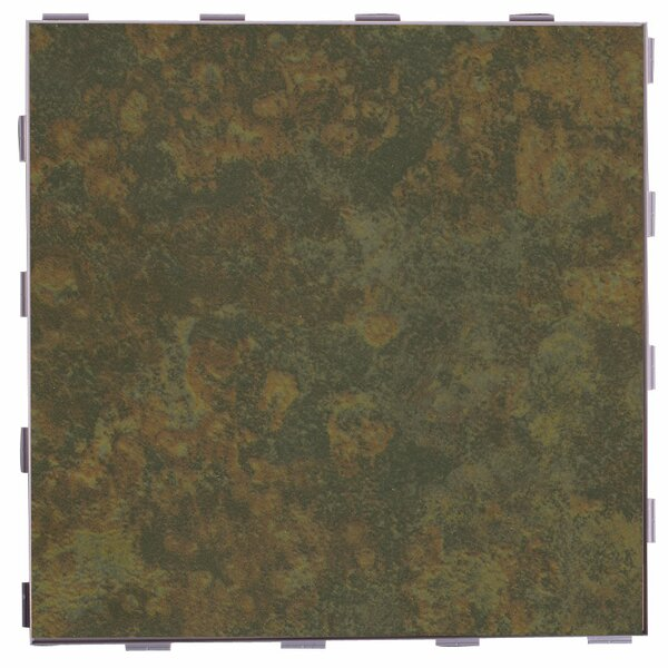 Classic ThinLine 12 x 12 Porcelain Field Tile in Moss by SnapStone