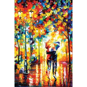 Under One Umbrella Painting Print on Wrapped Canvas by Andover Mills