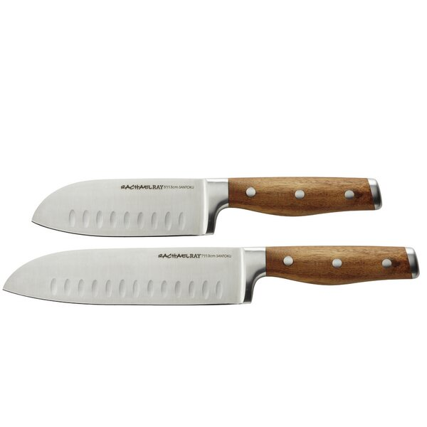 Cucina Cutlery 2 Piece Japanese Santoku Knife Set by Rachael Ray