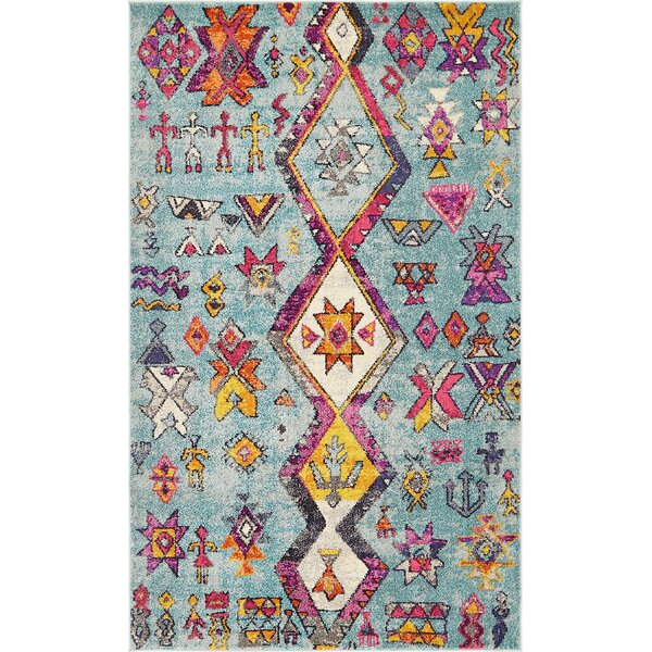 Ariyah Turquoise Area Rug by Bungalow Rose